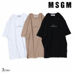 MSGM エムエスジーエム Tシャツ メンズ 半袖 TIMES NEW ROMAN PRINT T-SHIRT ブラック ホワイト ベージュ 2540MM103 184798
