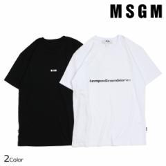 MSGM エムエスジーエム Tシャツ メンズ 半袖 SHORT SLEEVE T-SHIRT WITH PRINT MSGM エムエスジーエム ブラック ホワイト 2540MM60 18479