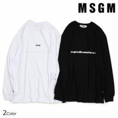 MSGM Tシャツ メンズ エムエスジーエム 長袖 TEMPODICAMBIARE LONG SLEEVE T-SHIRT WITH PRINT MSGM ブラック 2540MM90 8/10 新入荷