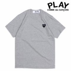 コムデギャルソン PLAY COMME des GARCONS Tシャツ 半袖 メンズ BLACK HEART T-SHIRT グレー AZT076 [3/22 追加入荷]