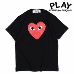 コムデギャルソン PLAY Tシャツ 半袖 COMME des GARCONS メンズ RED HEART T-SHIRT ブラック AZT112