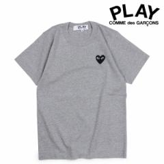 コムデギャルソン PLAY COMME des GARCONS Tシャツ 半袖 レディース BLACK HEART T-SHIRT グレー AZT075 [ 3/19 追加入荷]