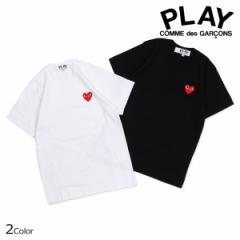 コムデギャルソン PLAY Tシャツ 半袖 COMME des GARCONS レディース RED HEART T-SHIRT ブラック ホワイト AZT107
