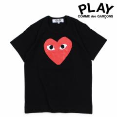 コムデギャルソン PLAY Tシャツ 半袖 COMME des GARCONS レディース RED HEART T-SHIRT ブラック AZT111