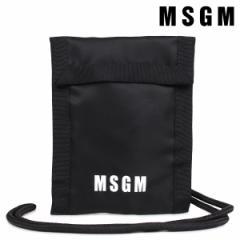 MSGM エムエスジーエム カードケース パスケース メンズ レディース POCHETTE ブラック 2540MX05 184682
