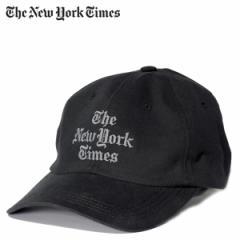 ニューヨークタイムズ The New York Times キャップ 帽子 メンズ スナップバック STACKED LOGO BALL CAP ブラック