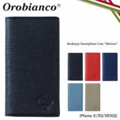 オロビアンコ Orobianco iPhone XR X XS ケース 手帳型 スマホ アイフォン MINIMO レザー メンズ レディース ORIP-0002