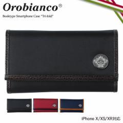 オロビアンコ Orobianco iPhone XR X XS ケース 手帳型 スマホ アイフォン TRI-FOLD レザー メンズ レディース ORIP-0005