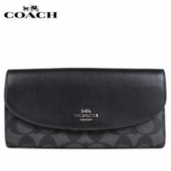コーチ COACH 財布 長財布 レディース 二つ折り シグネチャー ブラック F54022