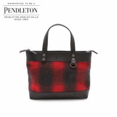 ペンドルトン PENDLETON バッグ トートバッグ ショルダー WOOL BAG WITH STRAP メンズ レディース レッド GD143