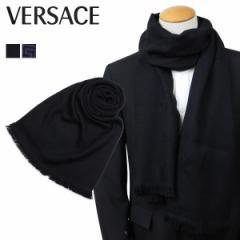 ベルサーチ VERSACE マフラー ヴェルサーチ メンズ レディース ウール イタリア製 カジュアル ビジネス ブラック パープル 2311