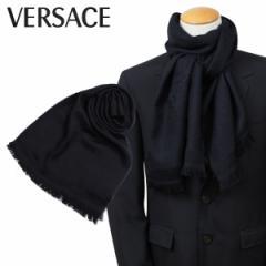 ベルサーチ VERSACE マフラー ヴェルサーチ メンズ レディース ウール イタリア製 カジュアル ビジネス ブラック 2310