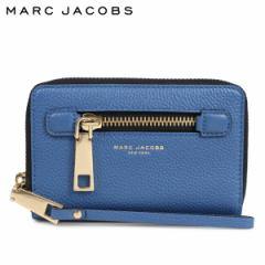 マークジェイコブス MARC JACOBS カードケース iPhoneケース スマホケース レディース レザー GOTHAM ZIP PHONE WRISTLET ブルー M000845