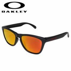 オークリー Oakley サングラス フロッグスキン アジアンフィット メンズ レディース Frogskins ASIA FIT ブラック OO9245-6354
