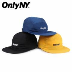 ONLY NY オンリーニューヨーク キャップ 帽子 メンズ レディース ナイロン LOGO 5-PANEL ブラック ネイビー ゴールド