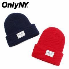 ONLY NY オンリーニューヨーク ニット帽 ニットキャップ ビーニー メンズ レディース LODGE BEANIE ネイビー レッド