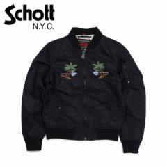 ショット Schott ジャケット フライトジャケット レディース WOMEN WAIKIKI COMMEMORATIVE FLIGHT JACKET ブラック 9721W