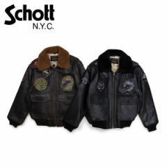 ショット Schott ジャケット ボンバージャケット メンズ MEN G-1 WINGS OF GOLD LEATHER BOMBER JACKET ブラック ブラウン G1TG