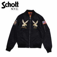 ショット Schott ジャケット MA1 ナイロンジャケット メンズ NYLON MA-1 FlIGHT JACKET ブラック 9722