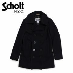 ショット Schott コート Pコート レディース ウール WOMENS WOOL PEACOAT ブラック 754W