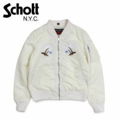 ショット Schott ジャケット フライトジャケット レディース WOMEN WAIKIKI COMMEMORATIVE FLIGHT JACKET ホワイト 9721W