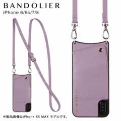 BANDOLIER バンドリヤー iPhone 6 6s 7 8 ケース ショルダー スマホ アイフォン レザー EMMA LILAC メンズ レディース ライラック 10EMM1