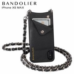 BANDOLIER バンドリヤー iPhone XS MAX ケース ショルダー スマホ アイフォン レザー LUCY PEWTER メンズ レディース ブラック 10LCY1001