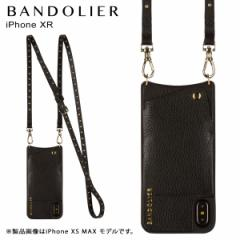 BANDOLIER バンドリヤー iPhone XR ケース ショルダー スマホ アイフォン レザー NICOLE GOLD メンズ レディース ブラック 10NIC1001 [4/