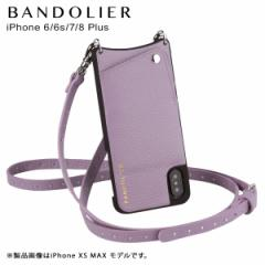 BANDOLIER バンドリヤー iPhone8Plus iPhone7Plus 6sPlus ケース ショルダー スマホ アイフォン レザー NICOLE LILAC メンズ レディース