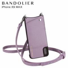 BANDOLIER バンドリヤー iPhone XS MAX ケース ショルダー スマホ アイフォン レザー NICOLE LILAC メンズ レディース ライラック 10NIC1