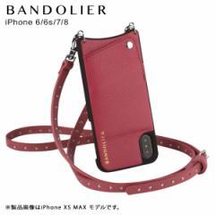 BANDOLIER バンドリヤー iPhone 8 7 6s 6 ケース ショルダー スマホ アイフォン レザー NICOLE MAGENTA RED メンズ レディース マゼンタ