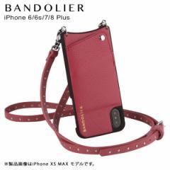BANDOLIER バンドリヤー iPhone8Plus iPhone7Plus 6sPlus ケース ショルダー スマホ アイフォン レザー NICOLE MAGENTA RED メンズ レデ