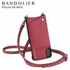 BANDOLIER バンドリヤー iPhone XS MAX ケース ショルダー スマホ アイフォン レザー NICOLE MAGENTA RED メンズ レディース マゼンタ レ