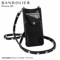BANDOLIER バンドリヤー iPhone XR ケース ショルダー スマホ アイフォン レザー SARAH SILVER メンズ レディース ブラック 10SAR1001
