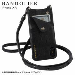 BANDOLIER バンドリヤー iPhone XR ケース ショルダー スマホ アイフォン レザー SARAH BLACK メンズ レディース ブラック 10SAR1001 [4/