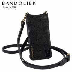 BANDOLIER バンドリヤー iPhone XR ケース ショルダー スマホ アイフォン レザー EMMA GOLD メンズ レディース ブラック 10EMM1001 [4/18