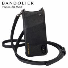 BANDOLIER バンドリヤー iPhone XS MAX ケース ショルダー スマホ アイフォン レザー EMMA PEWTER メンズ レディース ブラック 10EMM1001