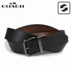 コーチ COACH ベルト レザーベルト メンズ リバーシブル 本革 レザー ブラック 黒 F38727 [3/8 新入荷]