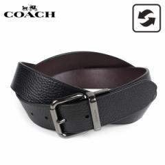 コーチ COACH ベルト レザーベルト メンズ リバーシブル 本革 レザー 黒 ブラック F38727 [3/8 新入荷]