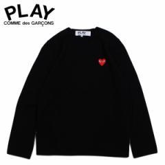 コムデギャルソン PLAY COMME des GARCONS ニット セーター メンズ RED HEART CREW NECK SWEATER ブラック 黒 AZ-N068 [4/1 新入荷]