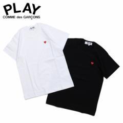 コムデギャルソン PLAY COMME des GARCONS Tシャツ レディース 半袖 LITTLE RED HEART T-SHIRT ブラック ホワイト 黒 白 AZ-T199 [3/29