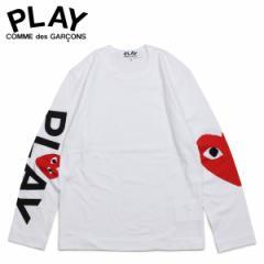 コムデギャルソン PLAY COMME des GARCONS Tシャツ メンズ 長袖 ロンT RED HEART LONG SLEEVE ホワイト 白 AZ-T258 [4/1 新入荷]