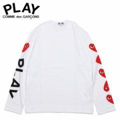 コムデギャルソン PLAY COMME des GARCONS Tシャツ メンズ 長袖 ロンT RED HEART LONG SLEEVE ホワイト 白 AZ-T262 [4/1 新入荷]
