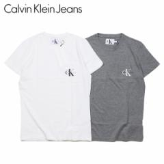 カルバンクライン ジーンズ Calvin Klein Jeans Tシャツ 半袖 メンズ MONOGRAM POCKET SLIM TEE ホワイト グレー 白 J30J311023 [4/15 新