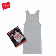 ヘインズ Hanes Aシャツ タンクトップ メンズ レディース 2枚組 コットン グレー HM2-K702 [4/1 新入荷]