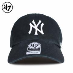 47Brand フォーティーセブン クリーンナップ キャップ 帽子 ヤンキース メンズ レディース ブラック 黒 B-RGW17GWS-BKD 4/5 新入荷