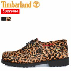 シュプリーム Supreme ティンバーランド Timberland 3アイ デッキシューズ メンズ 3-EYE CLASSIC LUG SHOE コラボ ブラック レオパード
