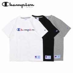 チャンピオン Champion Tシャツ 半袖 メンズ レディース LOGO T-SHIRT ブラック ホワイト グレー 黒 白 C3-H371 4/25 新入荷
