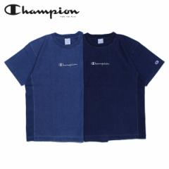 チャンピオン Champion Tシャツ 半袖 リバースウィーブ メンズ レディース REVERSE WEAVE T-SHIRT ネイビー ブルー C3-P319 [4/1 新入荷]