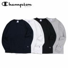 チャンピオン Champion Tシャツ 長袖 メンズ レディース LONG SLEEVE T-SHIRT ブラック ホワイト グレー ネイビー 黒 白 C5-P401 [4/2 新